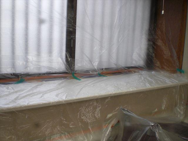 内部天井塗装前養生