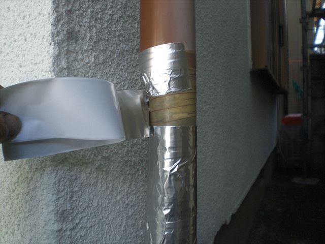 アルミテープ補修