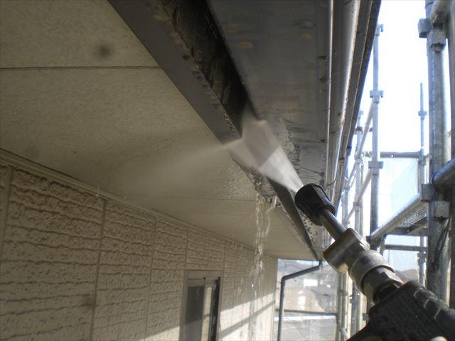 破風板洗浄