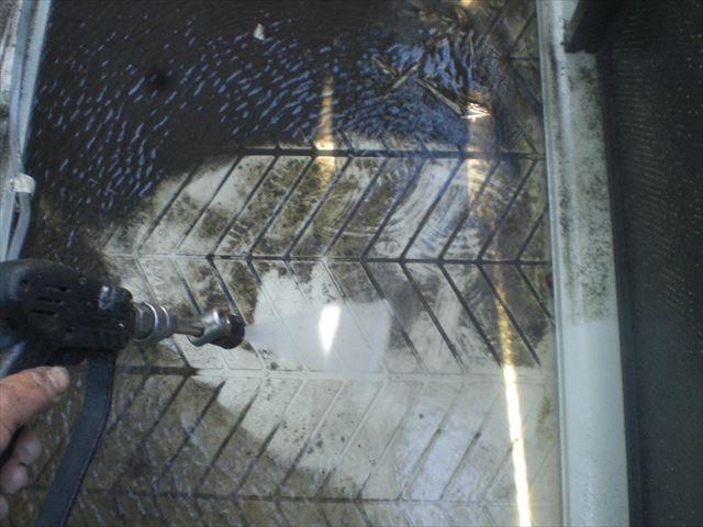 バルコニー床洗浄