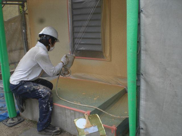 外壁中塗り ソフトスタッコ