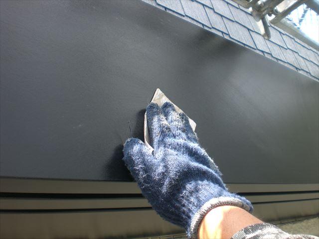 破風板仕上げ塗り3回目