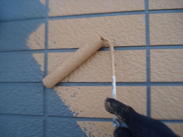 K邸外壁上塗りダブル