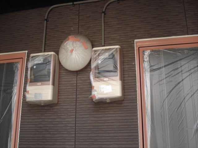 水戸APT電気メーター養生