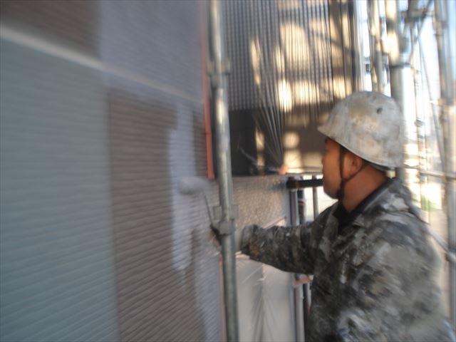 水戸APT外壁下塗り