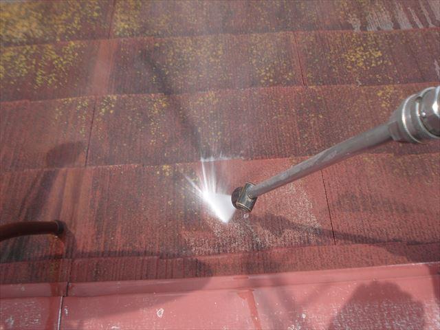 F邸屋根洗浄