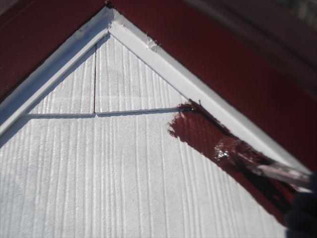 F邸屋根1回目上塗り