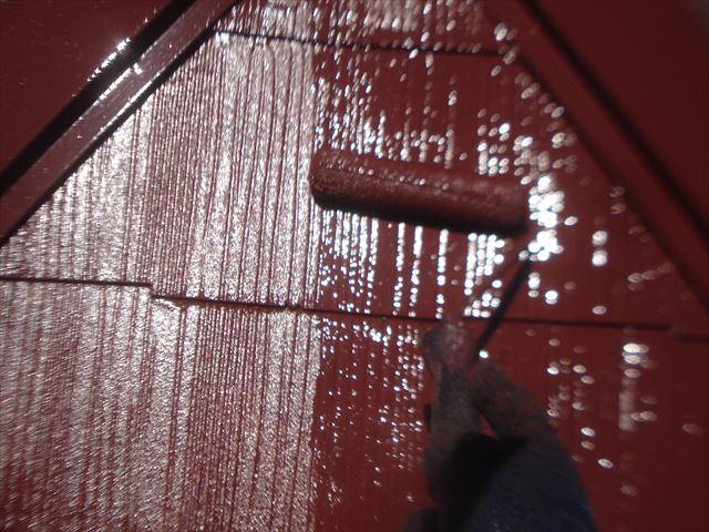 F邸屋根上塗り2回目