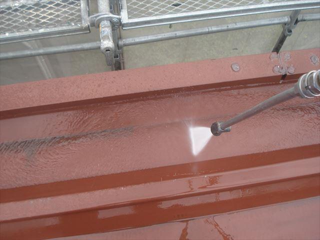 F邸折板屋根洗浄