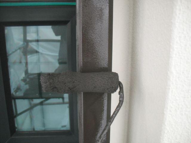 竪樋、上塗り1回目