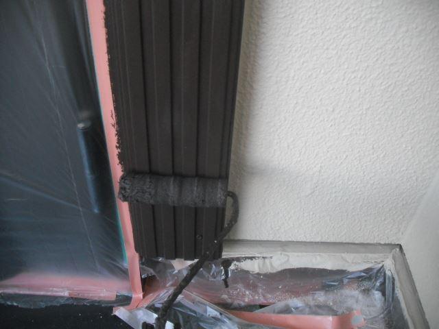 玄関モール上塗り2回目