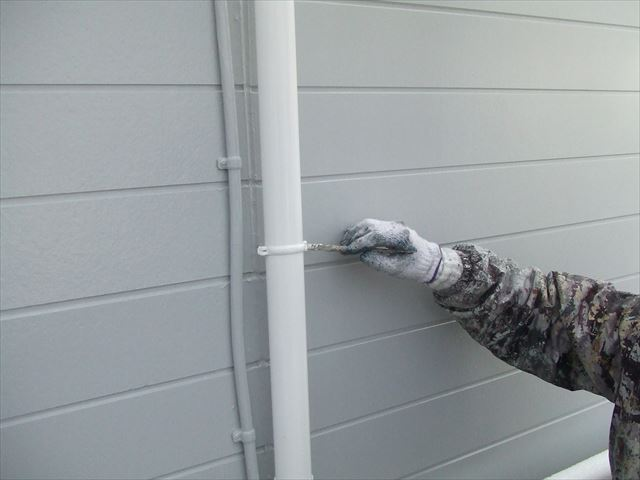 外壁タッチアップ作業