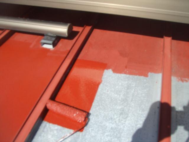 鉄板屋根錆止め塗装