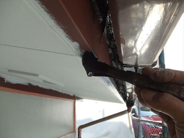 破風板下部塗装