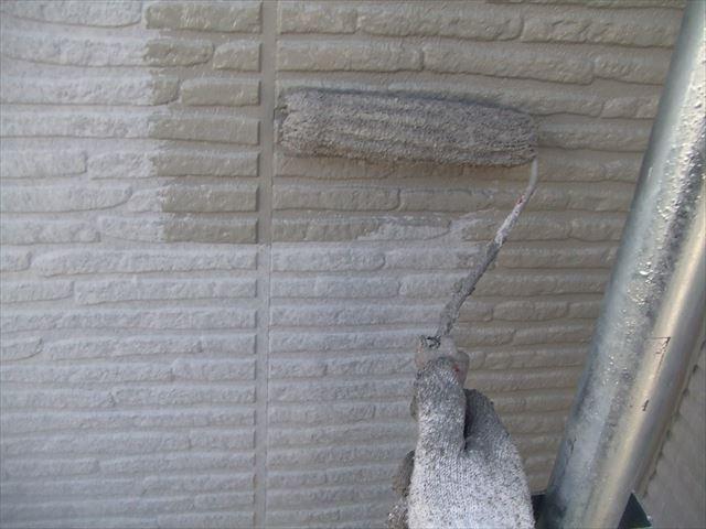 2階の外壁中塗り
