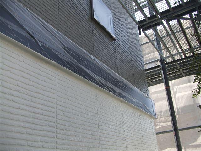外壁中塗り後1階2階