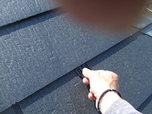 屋根タスペーサー取り付け