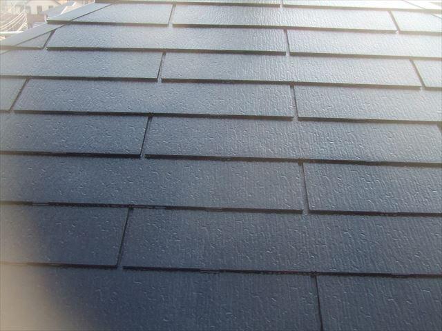 屋根の仕上げ塗装後