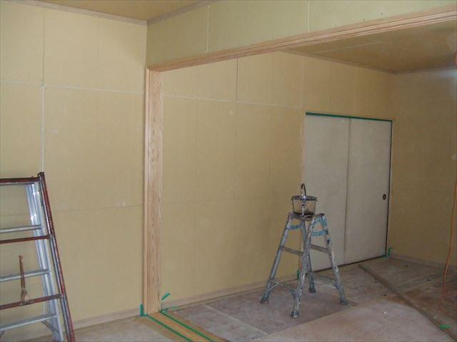 敷居塗装後