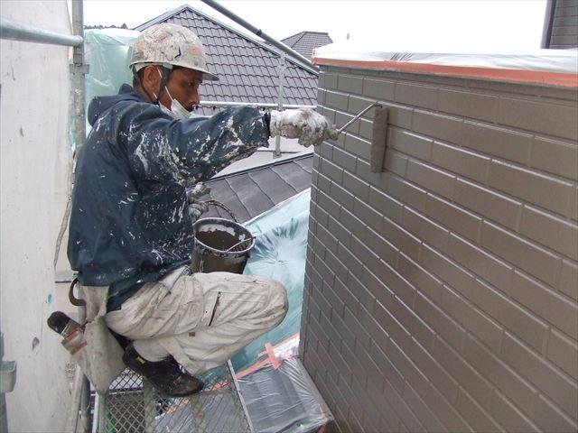 外壁ローラー上塗り
