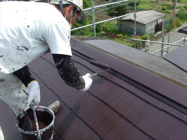 屋根仕上げ塗装ダイヤスーパーセランマイルドIR遮熱塗料