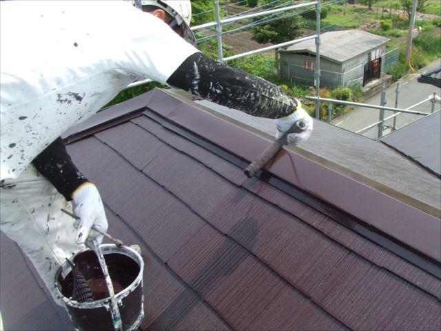 屋根仕上げ塗装後ダイヤスーパーセランマイルドIR遮熱塗料
