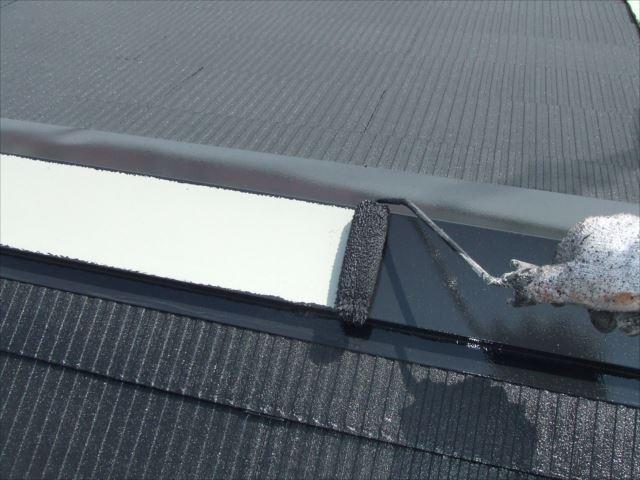 屋根鉄部塗装ファインSI