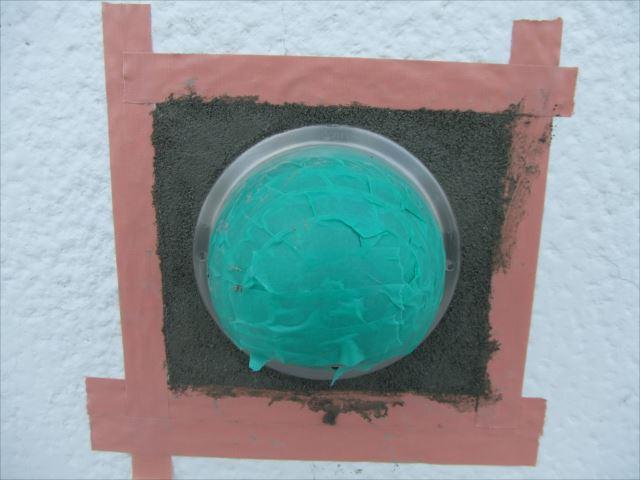 漆喰壁モルタル補修後