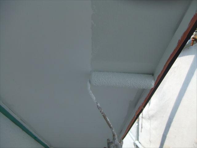 軒天塗装、2回目セラマイルド