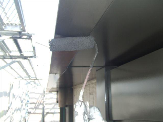 破風板塗装、コスモマイルドシリコン