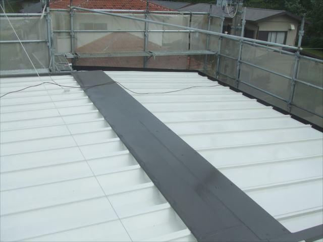 屋根塗装後、ヤネフレッシュSI