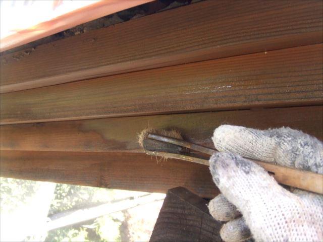 木部破風塗装、キシラデコール
