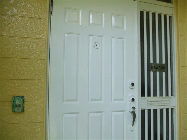 玄関ドア塗装、コスモマイルドシリコン2