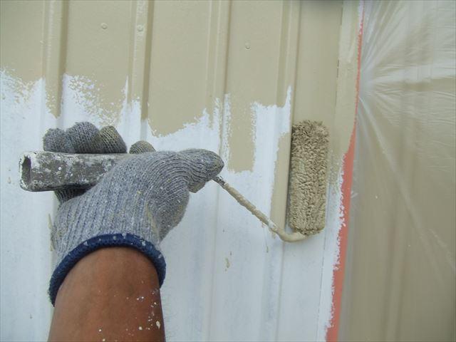 鉄板外壁塗装、ファインsi