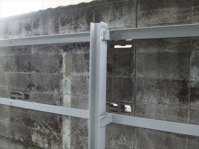 塀補強鉄骨