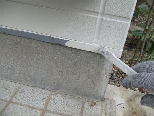 土台水切り塗装、クリーンマイルドシリコン