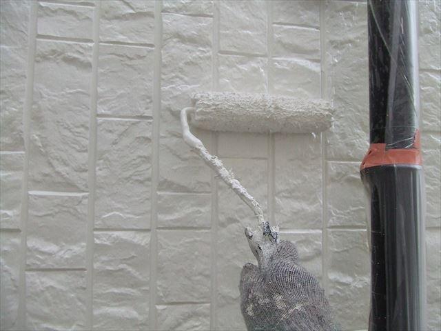 サイディング外壁2回目塗装、ファインコートシリコン