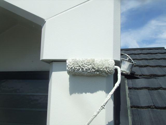 屋根上グルニエ枠塗装、シリコンガードⅬ
