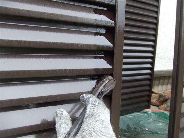 雨戸塗装、コスモマイルドシリコン2