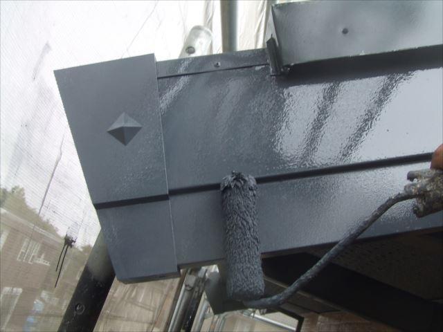 破風板塗装、シリコンガードL