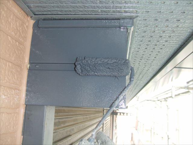 シャツターボックス塗装、シリコンガードL