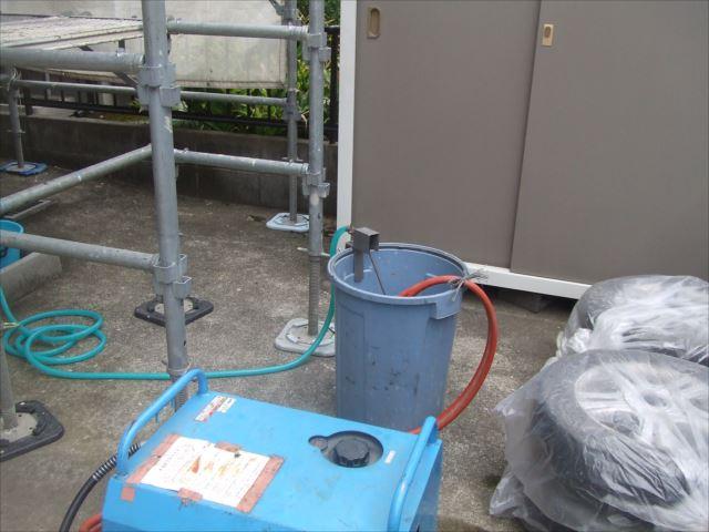 高圧洗浄機、セッティング