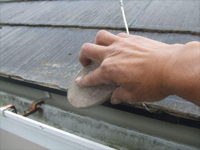屋根小口、ワイヤーブラシケレン