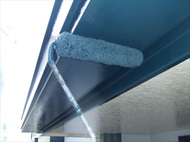 樋下部塗装、クリーンマイルドシリコン