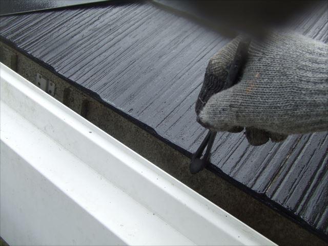 屋根小口塗装、ヤネフレッシュSI、