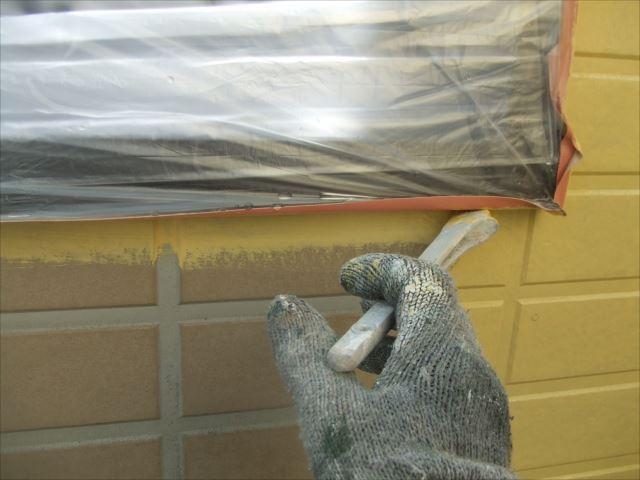 外壁刷毛塗り、SPRカラープライマー