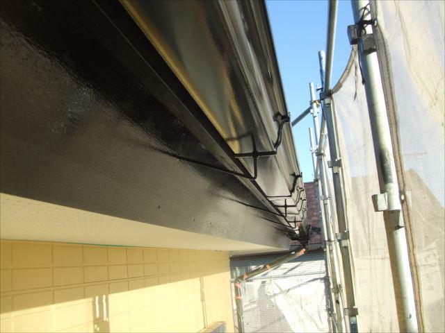 破風板、雨樋塗装、コスモマイルドシリコン2