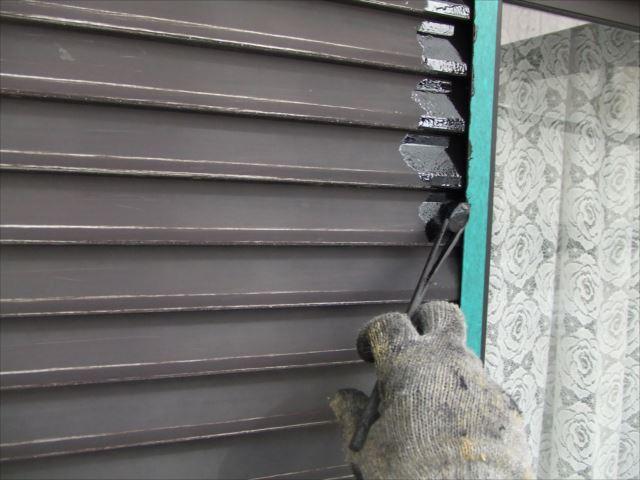 雨戸刷毛塗り、コスモマイルドシリコン2