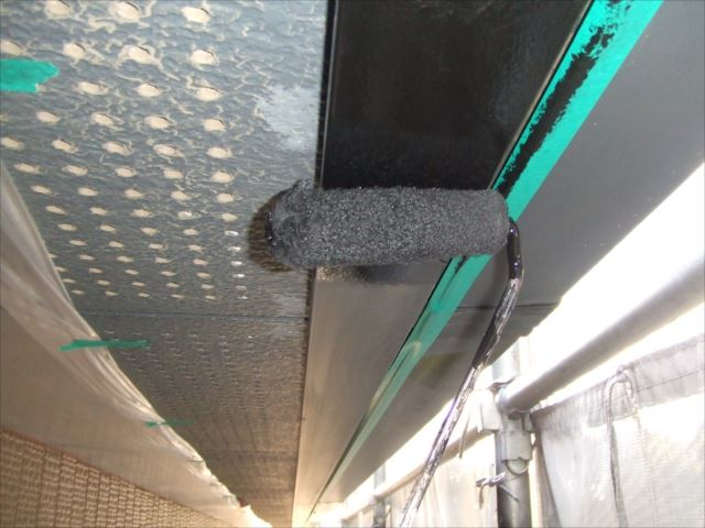 破風板塗装コスモマイルドシリコン2