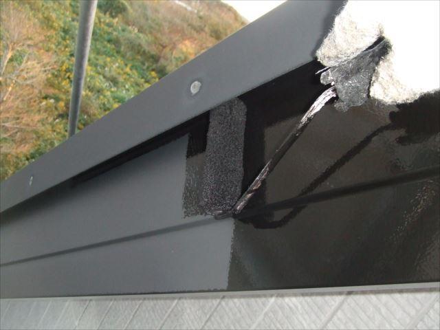 破風板塗装、コスモマイルドシリコン2